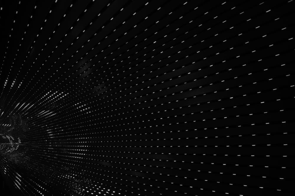 Effet lumineux de tunnel